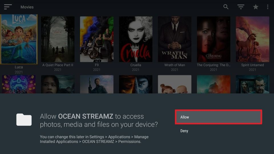 how to use Ocean Streamz on FireStick
