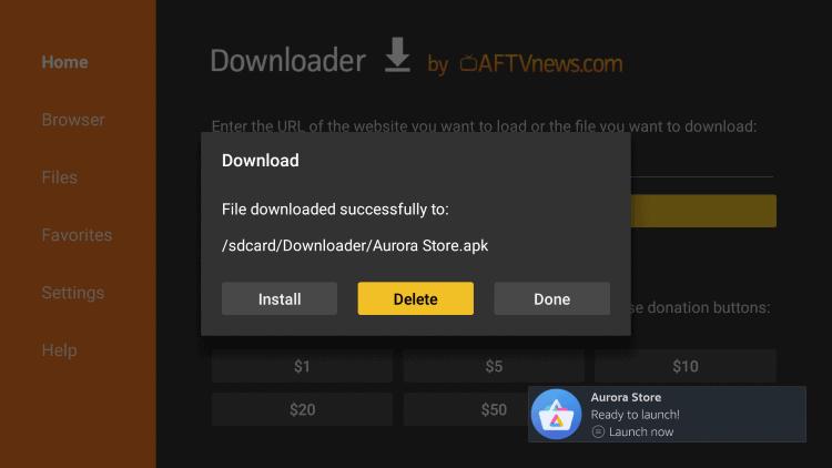 download aurora store on firestick