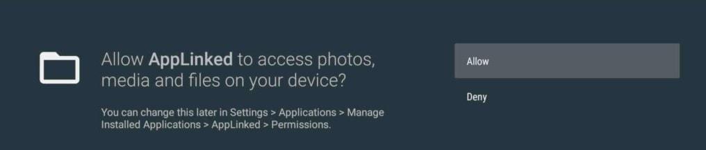access applinked on firestick