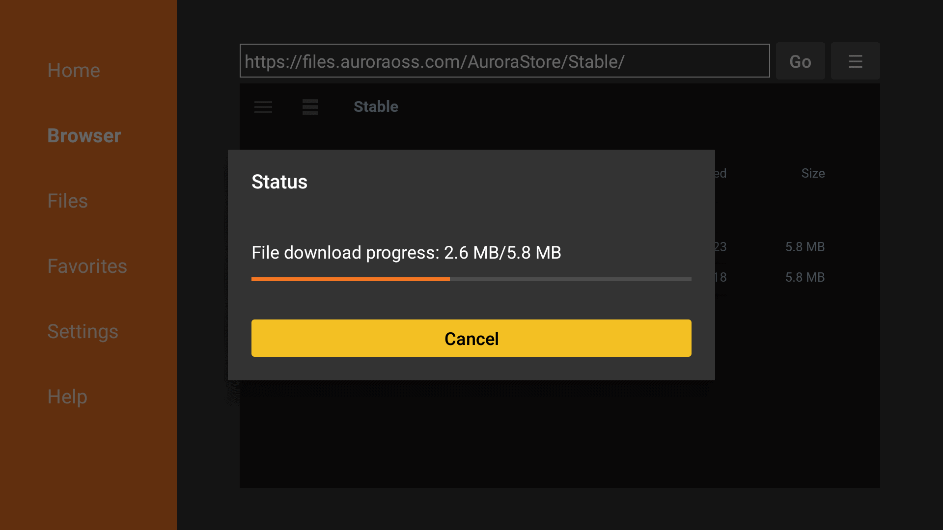 download will start now